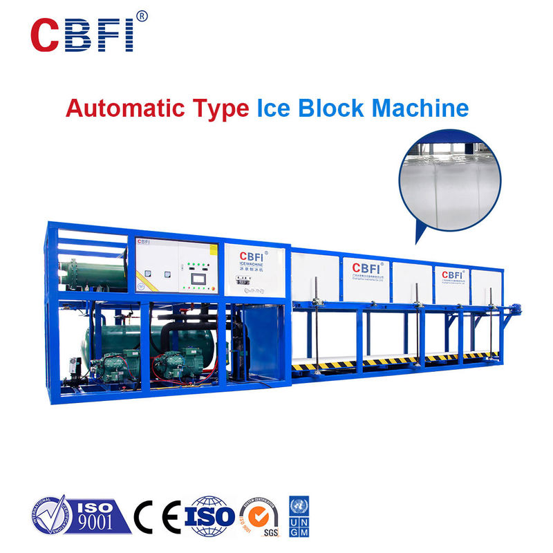 Automatic Adding Water And Collecting Ices Block Ice Machine Direct Cooling